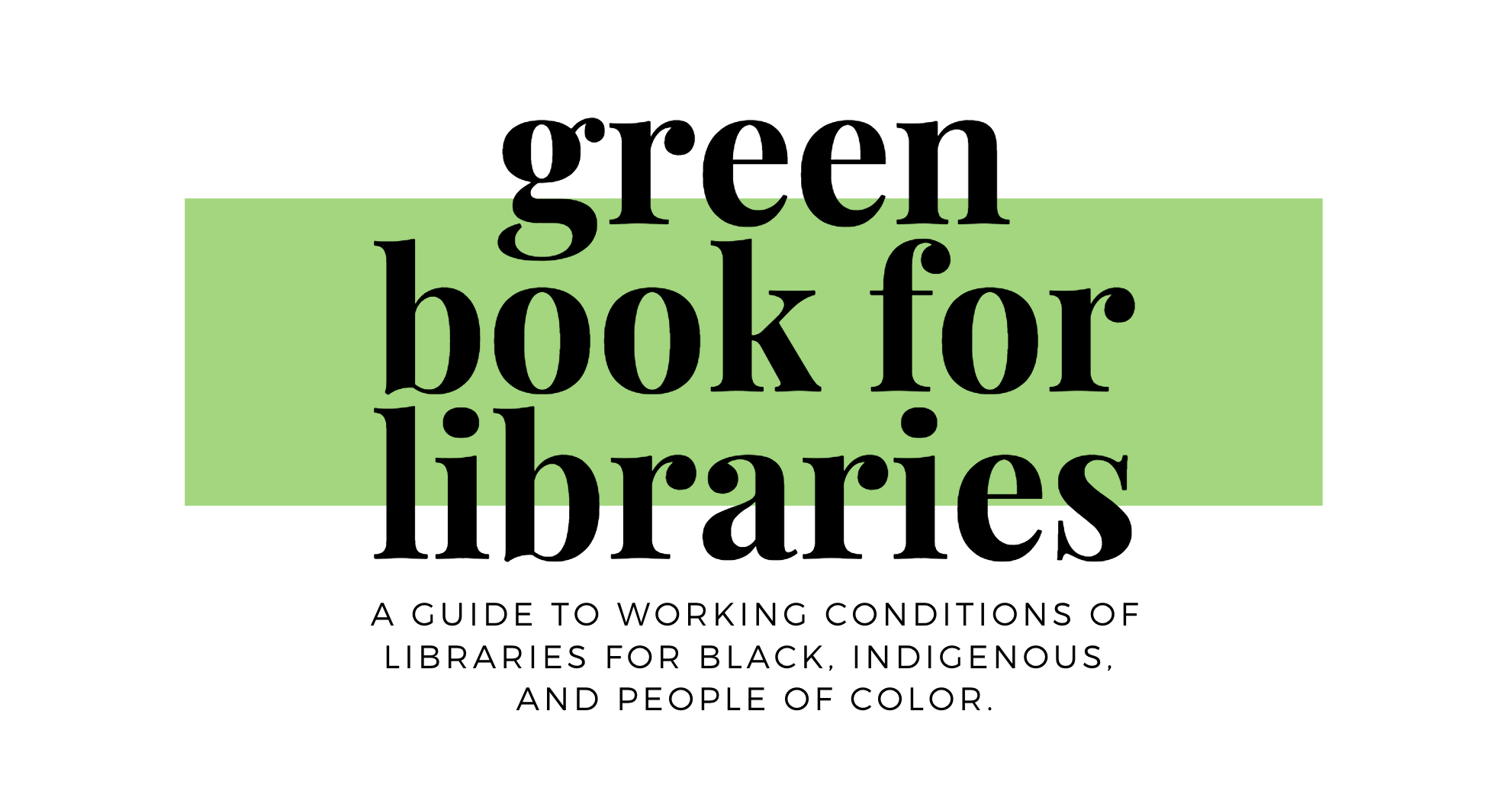 Green Book for Libraries